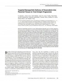 Targeted nanoparticle delivery of doxorubicin into placental tissues to treat ectopic pregnancies - Endocrinology - 2013
